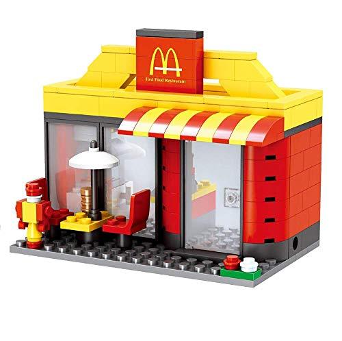 Modbrix City Bausteine BurgerLaden, 192 teiliges Konstruktionsspielzeug thumbnail