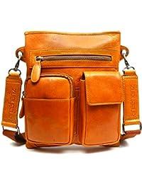 Areeehanz 100% Geneuine Leather Mens Messenger Sling Bag