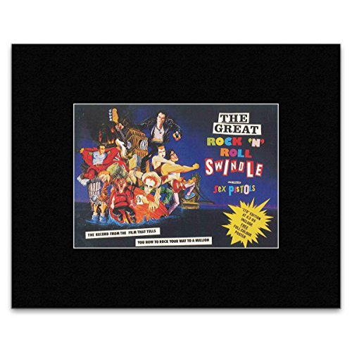 SEX PISTOLS - The Great Rock 'N' Roll Swindle Matted Mini Poster - 16.4x22.4cm -