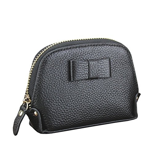 Zhhlinyuan Fashion Zipper Card Holder Purse Elegant Women Bow Short Wallet (Bag Purse Bow)