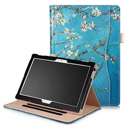 Xuanbeier Schutzhülle Multi - funktions Ständer Schutz Hülle für Lenovo Tab 4 10 / Tab4 10 Plus 10 inch mehrere Blickwinkel (Blumen)