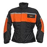 Germas 952.03-S Motorrad Regenjacke LEEDS, Schwarz/orange, Gr. S