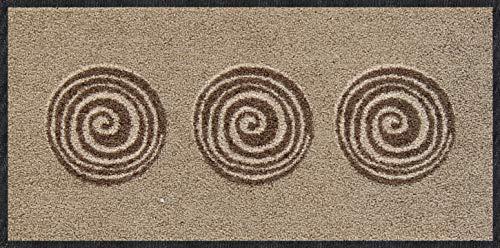 Salonloewe Mini-Fußmatte Finn-beige waschbar, Größe:30 x 60 cm