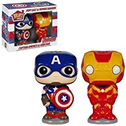 Salt and Pepper POP Home Marvel Capitan America Iron Man