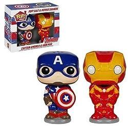 POP Marvel Salz- und Pfefferstreuer Captain America Iron Man