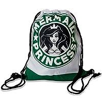 Premium Mermaid Princess 3d Print Hipster Bolsa de yute Bolsa Bolsa de deporte sirena stringbag Gym Bag Cordón Saco Mochila Grande Plegable