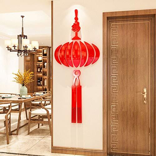 Neujahr Chinese New Year Dekorationen 3D Stereo Wandaufkleber Wohnzimmer Fenster Aufkleber Glastür Aufkleber Fu Wort Aufkleber Chinesischen Knoten F