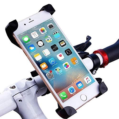 CHEREEKI Fahrrad Handyhalterung, 360° Drehbar Motorrad Handy Halterung Verstellbarer Anti-Shake Universelle Fahrradhalterung für 4,5-7 Zoll Smartphone Lenker MTB Handyhalterung (Schwarz)