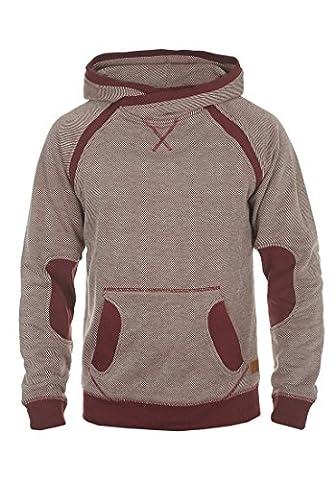 BLEND Steve - Sweater à capuche- Homme, taille:L;couleur:Andorra Red (73811)