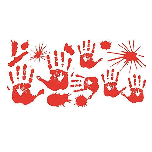 (Ouken 1 Stück Bloody Hand Print Glas Sticker Halloween Party Vampire Zombie Party Hand Druck Dekor)