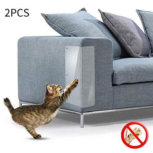 Konesky Katze Kratzschutz 2 STÜCKE Möbel Kratzschutz Flexibel Klar Katzen Kratzen Möbel Defender mit Pins
