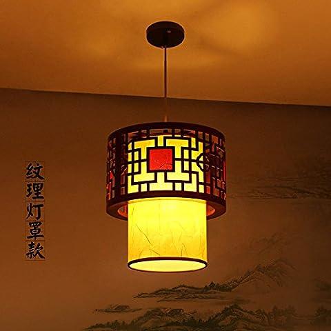 CHJK BRIHT Led stile classico cinese luce pendente in legno