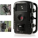 """Cámara de Caza, Abask Trail Cámara 720P Cámara de Vigilancia Impermeable con Sensor de Movimiento para La Visión Nocturna de Hasta 16m - Impermeable IP54 - 2.4""""TFT LCD, Negro"""