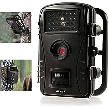 """Caméra de Chasse,ABASK Caméra Animaux de Surveillance Imperméable Infrarouge avec 2.4"""" Affichage LCD HD 50 ft Vision Nocturne Pour Loisir & Chasse(Noir)"""