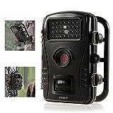 Wildlife Kamera, ABASK Spiel und Jagd Trail Pfadfinder WildKamera mit Wasserdicht Fall Digital 6,1 cm LCD-Bildschirm HD 50 FT Night Vision Entfernung, Schwarz