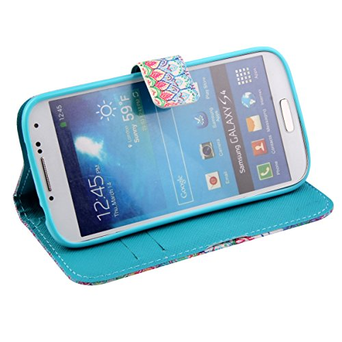 iPhone 5C Hülle, ISAKEN iPhone 5C Hülle Muster, Handy Case Cover Tasche for iPhone 5C, Bunte Retro Muster Druck Flip PU Leder Tasche Case Hülle im Bookstyle mit Standfunktion Kartenfächer mit Weich TP Blue Elephant Totem