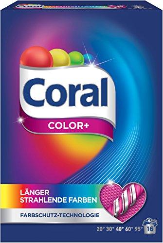 Coral Vollwaschmittel Color+ Pulver, 16 WL