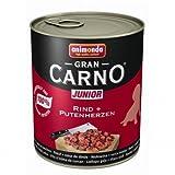 6 x Animonda Dog Dose GranCarno Junior Rind & Putenherz 800g, Nassfutter, Hundefutter