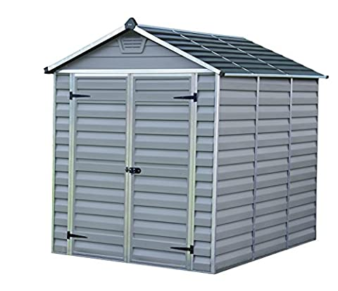 Palram Skylight Shed Gerätehäuser, dunkel grau / anthrazit, 230.5 x 185.5 x 217 cm
