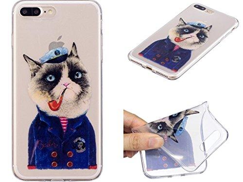 """Hülle für Apple iPhone 7 Plus , IJIA Transparente Niedlich Einhorn TPU Weich Silikon Stoßkasten Cover Handyhülle Schutzhülle Handytasche Schale Case Tasche für Apple iPhone 7 Plus (5.5"""") (WM111) WL2"""