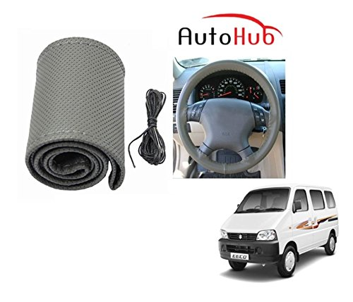 Auto Hub Premium Quality Car Steering Wheel Cover For Maruti Suzuki Eeco - Grey  available at amazon for Rs.199