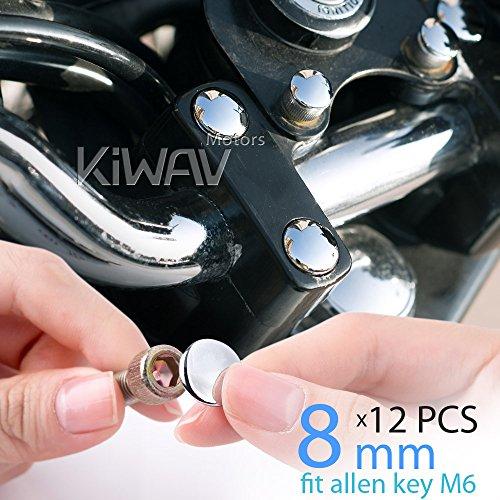 kiwav-moto-coperchi-cromati-dadi-bulloni-tappi-8mm-viti-6mm-chiave-a-brugola-ie-m6-allen-key-set-6pz
