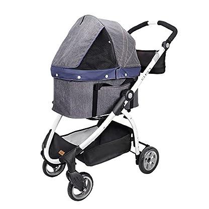 IbiyayaExpress Travel System Denim Pet Stroller 1