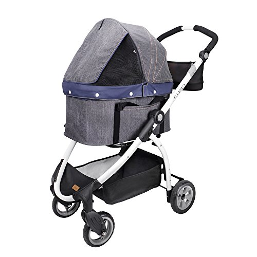 ibiyaya Express Hundebuggy Travel System, denim