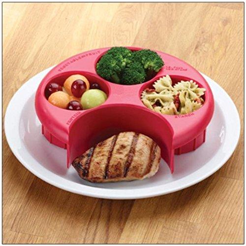 Preisvergleich Produktbild OverDoseMahlzeit Maßnahme Portion Control Kochen Werkzeuge mit Küche Food Plate - Ein perfektes Werkzeug für Portion Control