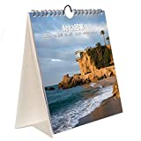 The desktop calendar Combi Nerja is perfect for planning the day to day of 2018, and can be used for both desktop wall already that includes stand and hanger. Account with enough space for taking notes and have a global vision of each week and month....