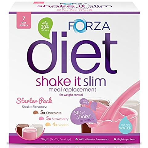 FORZA Shake It Slim Meal Replacement Shake Starter Pack - Meal Replacement Powder Drink - Weight Loss