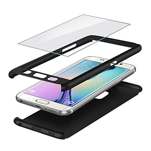 Blufox-Samsung-Galaxy-s7-Edge-Hlle-Schutzhlle-Schwarz-360-Grad-Hlle-360-Grad-Rundum-SCHWARZ-fuer-Samsung-Galaxy-s7-Edge-Komplett-Hlle-Bumper-s7-Edge-Case-Hard-Cover