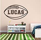 Lvabc Personalized Name Children Football Sports Wall Stickers for Nursery Kids Boys Bedroom Playroom Vinyl Decals Living Room 35X56Cm