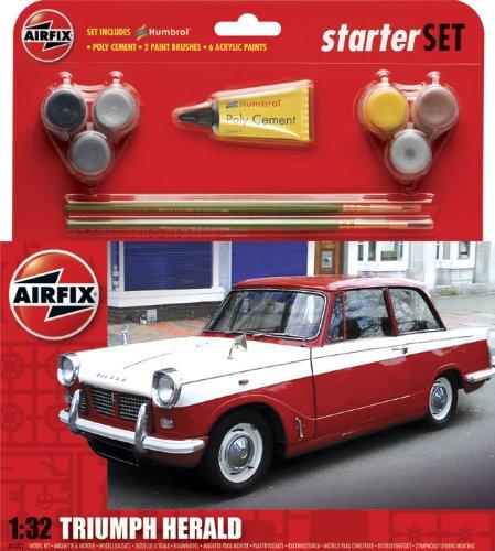 Imagen 1 de Airfix - Kit mediano con pinturas, coche Triumph Herald (Hornby A55201)