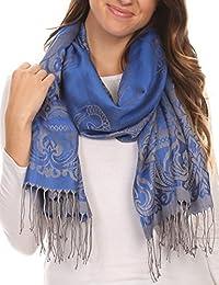 Sakkas Kendall Lange Extra Wide Floral Paisley Patterned Pashmina-Schal / Schal