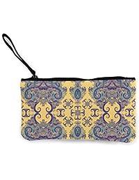 Women Mini Canvas Coin Purse Boho Ornament Fashion Card Holder Wallet