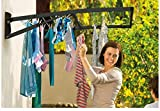Hills Supa Fold Duo Folding Frame Washing Line Clothesline Dryer Indoor/outdoor 23m Drying Space - Midnight Sky