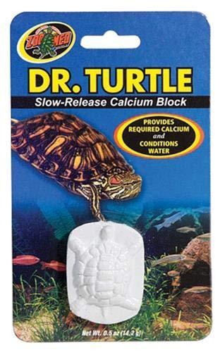 Zoo Med MD-11e Dr. Turtle Slow-Release Calcium Block, für Wasserschildkröten, löst sich im Wasser auf -
