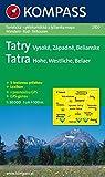 Hohe Tatra/Vysoke Tatry: 1 : 50 000: Wandern/Rad/Skitourenkarte. CZ/D. GPS-genau