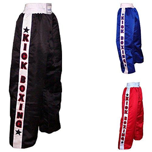 TurnerMAX Kick Boxing Hosen Kampfsport Muay Thai Kickboxhose MMA Schwarz (Mittel)