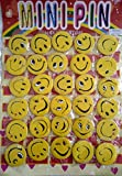 #5: Hhumanmakerr® Large Size 4.5 cm Smiley Emoji Colourful Expressions Button Pins Badge Brooch for Kids, Boys, Girls, Men, Women- Set of 30 - Birthday, Office, Theme Party and Inhouse Decorations