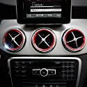 5x Auto - Klimaanlage Luftaustritt Dekoration | für Mercedes Benz A B GLA Class W176 W246 X156 GLA 200 220 260 | rot