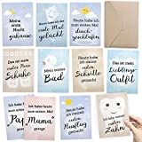 30+1 Meilenstein Foto- und Erinnerungs-Karten als Geschenk zur Geburt - Milestone Fotos mit Baby-Tagebuch - inkl. Geschenkbox und Glückwunsch-Karte - DIN A6 Postkartenformat