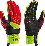 LEKI Nordic Race Shark - red Yellow Black - Langlauf Handschuhe mit Trigger S Shark, Handschuhgröße Reusch & Fischer:8.5