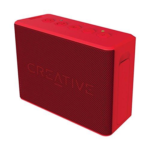 Creative MUVO 2c - Leistungsstarker, kompakter, wetterfester Wireless Bluetooth Lautsprecher (für Apple iOS/Android Smartphone, Tablet/MP3) rot (Zertifiziert und Generalüberholt)