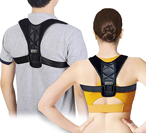 Faja correctora postural médica para estirar la espalda y los hombros, ajustable, para jorobas y ortesis de espalda, cintas de apoyo para hombres y mujeres, color negro