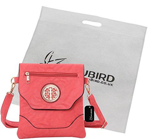 Kukubird Nicola Crossbody Bag borsa Casual tutti i giorni con sacchetto raccoglipolvere Kukubird Pink
