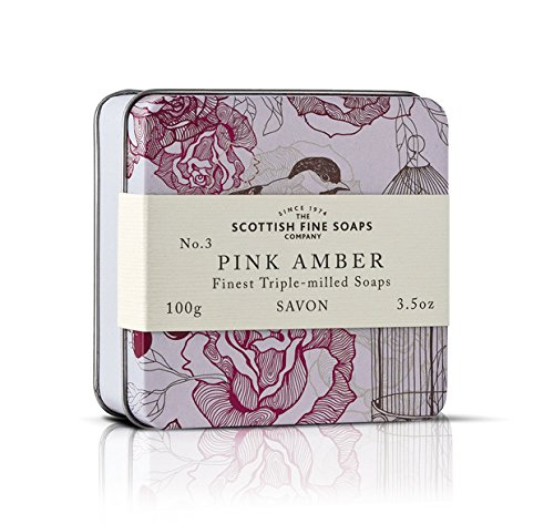 Scottish Soaps Soap In A Tin Vintage Pink Amber 100g