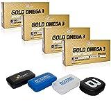 OLIMP PILLENBOX & GOLD Omega 3 Sport Edition Fettsäuren, 4 x 120 Kapseln