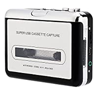Portable Cassette Player, AONOKOY Retro Cassette Tape Converter to MP3 via USB Compatible Super USB Cassette Captures Recorder Music Player with Earphones